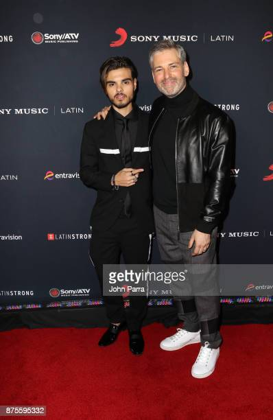 Abraham Mateo and Nir Seroussi attend Sony Music Latin Celebrates Its Artists At Their Annual Latin Grammy After Party on November 16 2017 in Las...