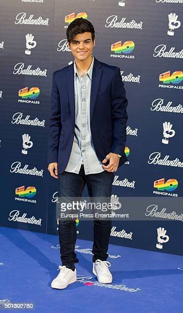 Abraham Mateo attend the 40 Principales Awards 2015 photocall at Barclaycard Center on December 11 2015 in Madrid Spain