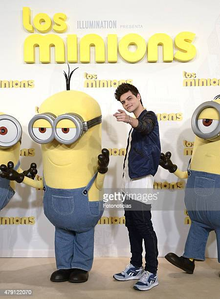 Abraham Mateo attends a photocall for 'The Minions' at the Hesperia Hotel on July 1 2015 in Madrid Spain