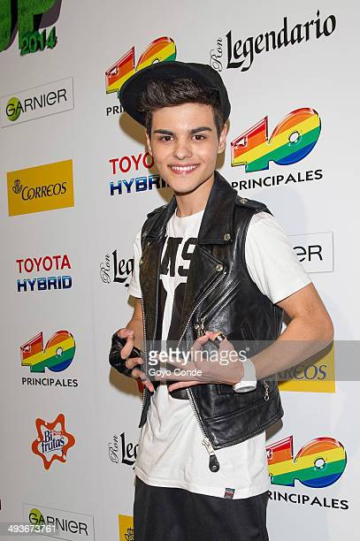 Abraham Mateo attends the photocall at '40 Principales' Primavera Pop Festival at Palacio Vistalegre Arena on May 24 2014 in Madrid Spain