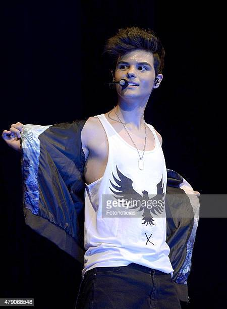 Abraham Mateo performs at the Barclaycard Center on June 30 2015 in Madrid Spain