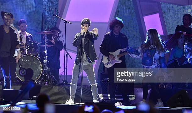 Abraham Mateo performs during the 40 Principales Awards Gala at the Barclaycard Center on December 11 2015 in Madrid Spain