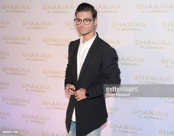 Abraham Mateo poses during a photocall for the new Shakira album 'El Dorado' at the Convent of Angels on June 8 2017 in Barcelona Spain