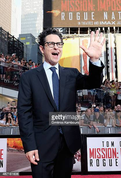 J Abrams attends the New York premiere of Mission Impossible Rogue Nation at the AMC Lincoln Square in Times Square on July 27 2015 in New York City