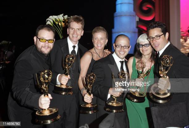 JJ Abrams with other producers of 'Lost' during 57th Annual Primetime Emmy Awards Governors Ball at The Shrine in Los Angeles California United States