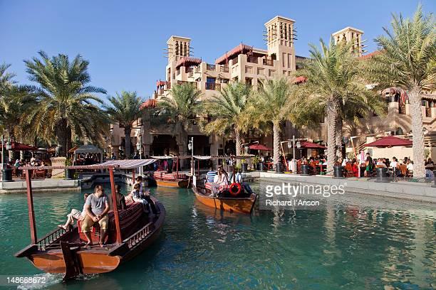 Abras on canal at Madinat Jumeriah  shopping centre.