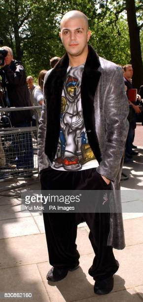 Abs from boy band 5ive arrives for the Ivor Novello Awards at the Grosvenor House Hotel Park Lane The 47th annual music awards rewards songwriters...