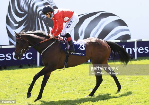 Absolute Blast ridden by Jockey Pat Smullen prior to the Princess Elizabeth Stakes