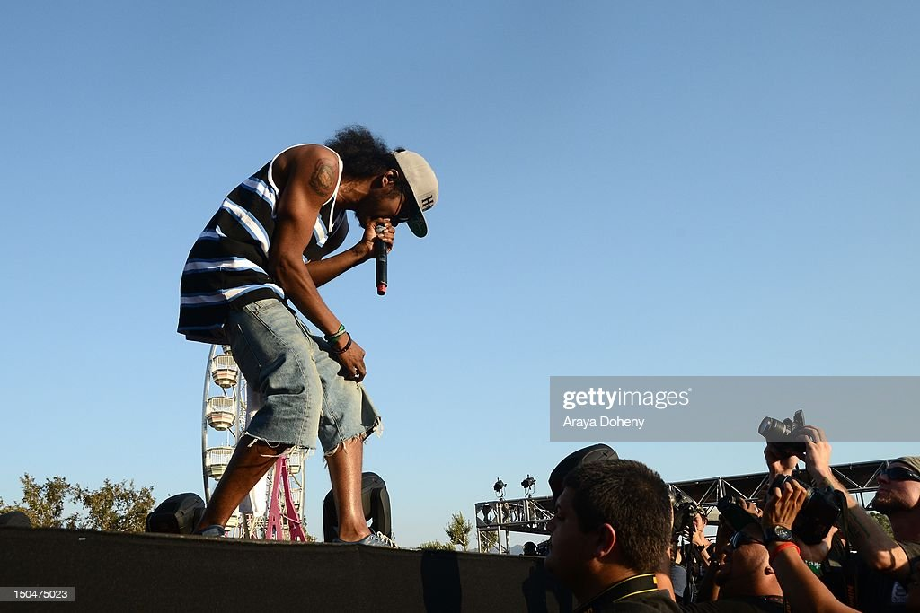 Ab-Soul performs at Rock The Bells Music Festival at NOS Events Center on August 18, 2012 in San Bernardino, California.