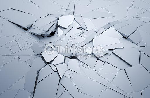 Abstract 3d Rendering Of Cracked Surface Stock Photo