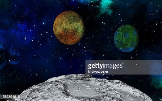 Abstract 3D space scene : Stock Photo