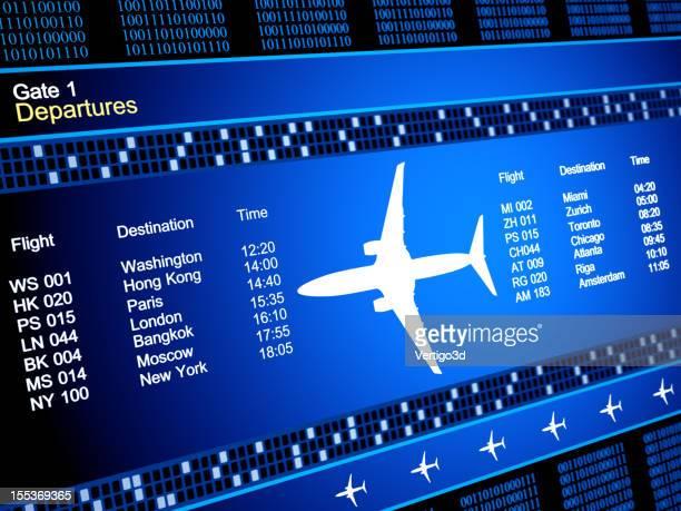 Abstrakte airlines Planung und Verkehr