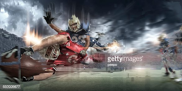 Abstract American Football Action