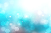 Underwater abstract blue blurred bokeh background.Aqua water teal color ocean glitter illustration.Sea travel resort wallpaper.