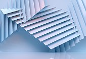 abstract architecture background multicolor - 3d rendering