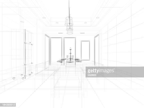 Arrière-plan de l'architecture cuisine 7
