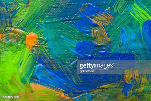 Abstract art backgrounds. Hand-painted background. SELF MADE. : Stock Photo