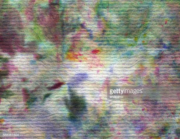 Abstract background created with multiple colors on fiber