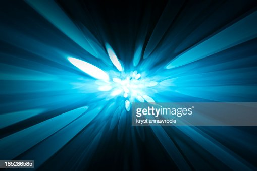 Abstract background, soft blurred blue rays of light, speed effect