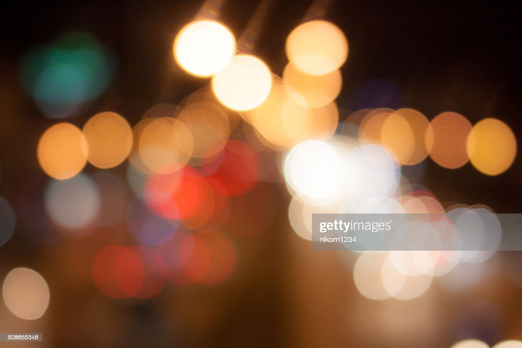 abstract background with bokeh de-focused lights : Stock Photo