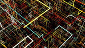Abstract background with circuit. Digital illustration. 3d rendering
