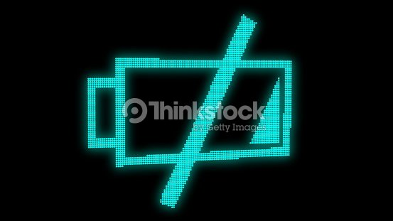 Abstract background with low battery. Digital 3d rendering : Stock Photo