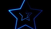 Abstract background with neon stars. 3d rendering