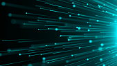 Abstract background with optical Fibers. Seamless loop