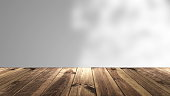 Abstract background with Perspective wood and blur background.. 3d rendering digital backdrop.