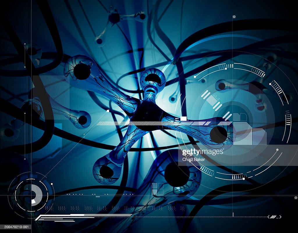 Abstract background with speakers (Digital)