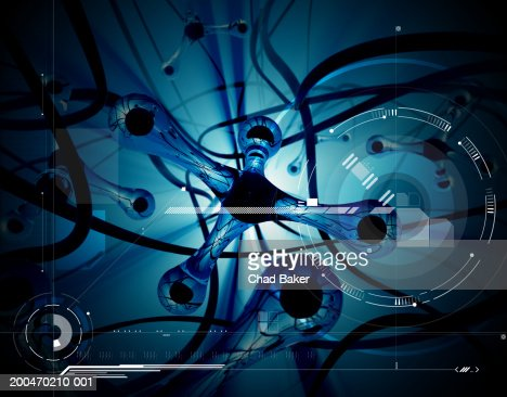 Abstract background with speakers (Digital) : Stock Photo
