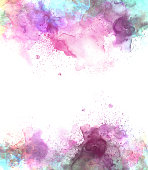 Abstract beautiful Colorful watercolor  painting  background, Colorful brush backgroundใ