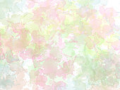 Abstract beautiful Summer Colorful shape watercolor illustration painting background and texture backdrop.
