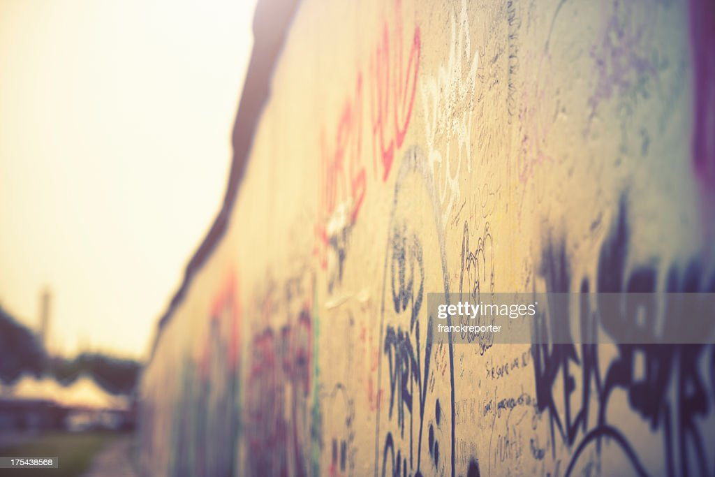 Sfondo muro di graffiti-Germania : Foto stock