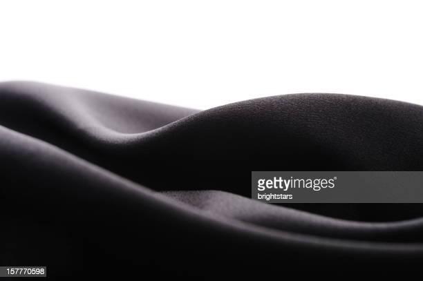 Abstract black satin