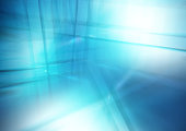 Abstract blue background of lines and reflections. Business theme