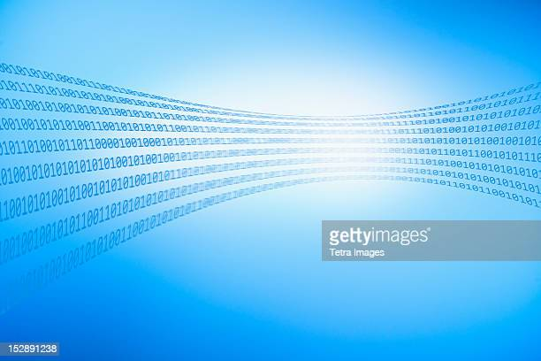 Abstract blue background representing binary code