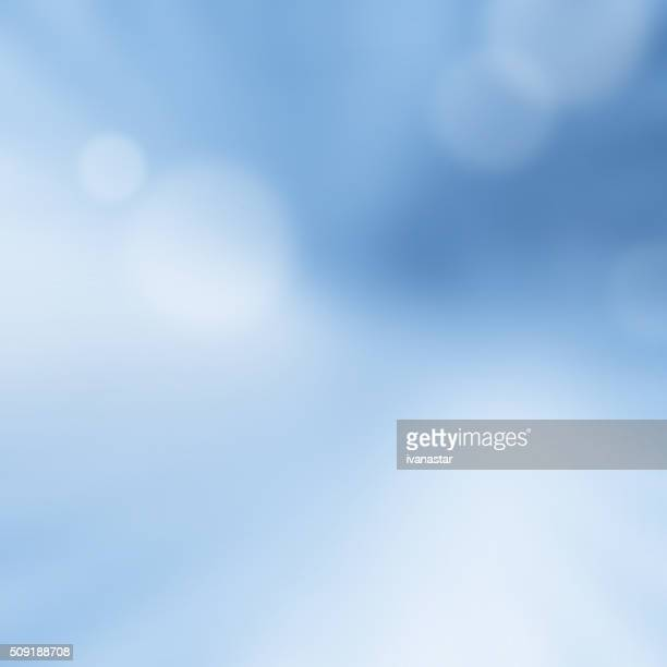 Abstract Blue  Blur Bokeh Background