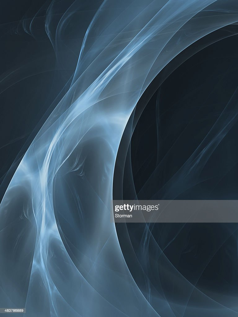 abstract blue curved shapes