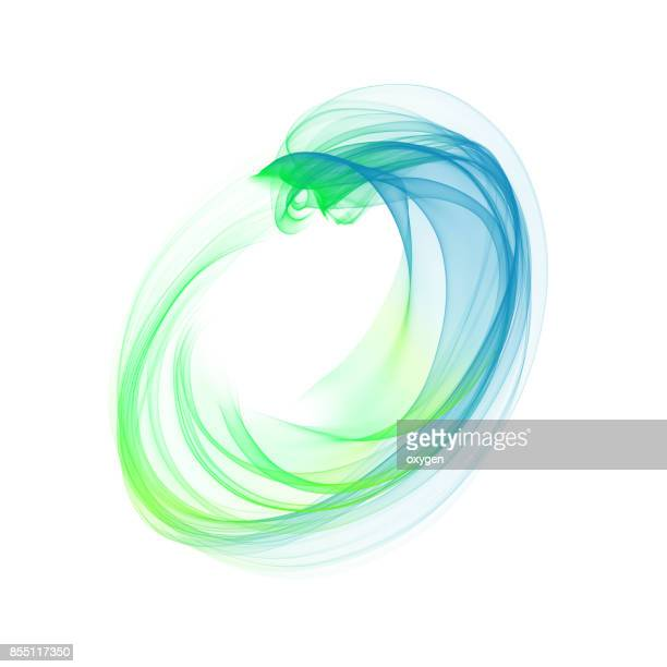 abstract blue element, wave, isolated on white background