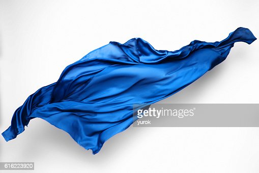 abstract blue fabric in motion : Stock Photo