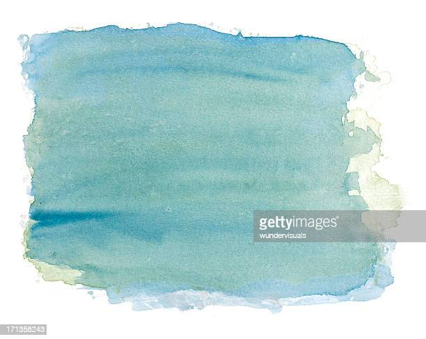 Abstract blue / green watercolor rectangular background