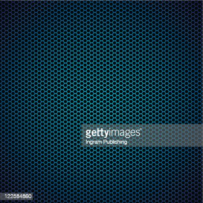 Abstract blue metal hexagon background with honeycomb effect : Stock-Foto