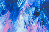 Abstract Blue pink and white Painting background with Brush Strokes