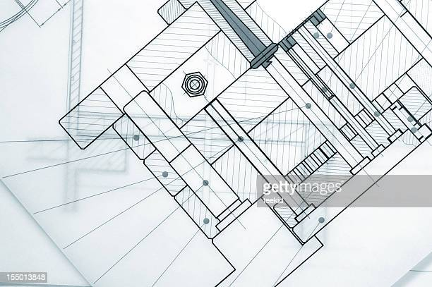 Abstrait Bluerpint-industrie mécanique documents