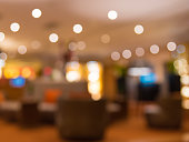 Abstract blur background of hotel lobby