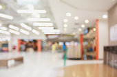 Abstract blur shopping mall background with bokeh light