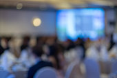 Abstract blurred photo of conference hall or meeting room