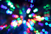Abstract bokeh lights. Casino or disco theme background