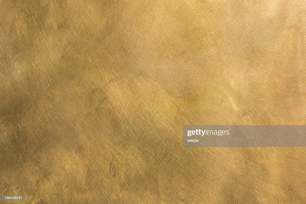 Abstract brass metal plate structured background XXL : Stock Photo